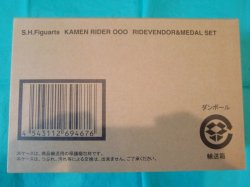 "Photo3: S.H.Figuarts Kamen Rider OOO Ridervender & Medal Set ""Opened Box"""